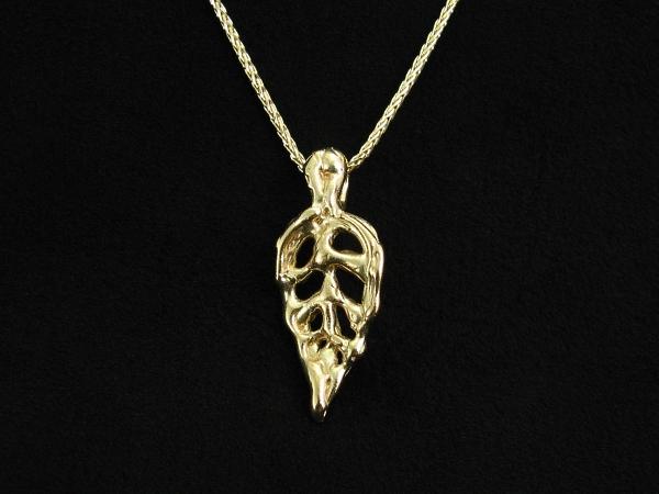 Guy cohen art leaf white gold necklace unique organic necklaces leaf gold necklace flowingleaf prod6 aloadofball Image collections
