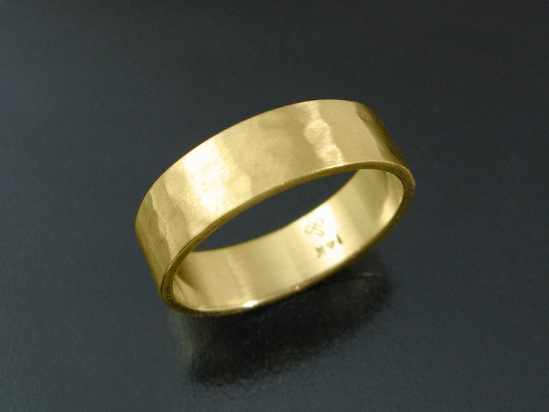 fdb1580be38999 Guy Cohen Art | Dimples wedding band- Classic handmade hammered gold ...