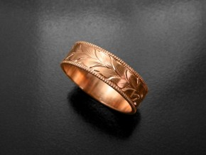 Winding-Leaves-Engraved-Wedding-Ring-1