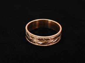 Winding-Leaves-Engraved-Wedding-Ring-4