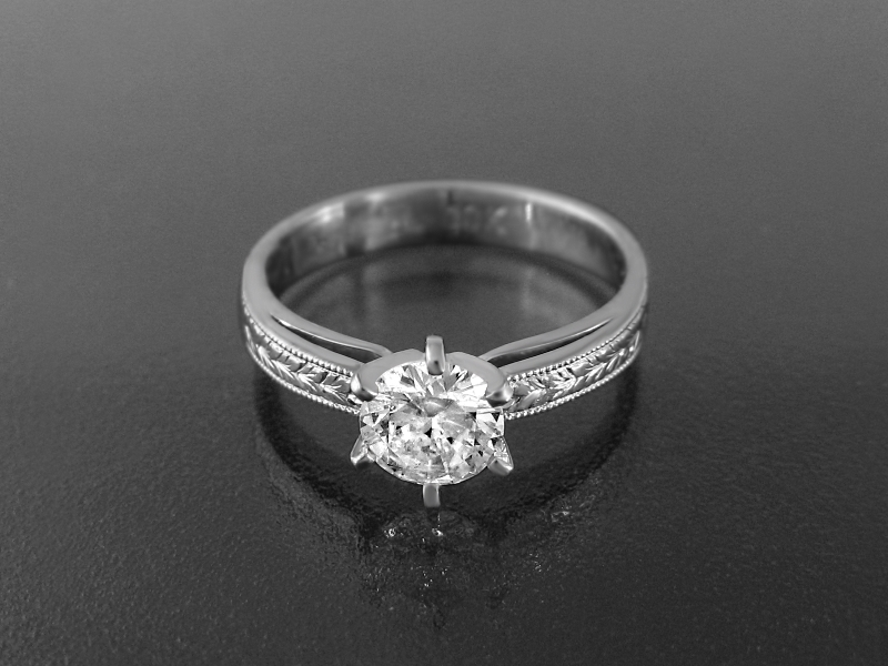 Guy Cohen Art Royal Diamond Engagement Ring Handmade Designer