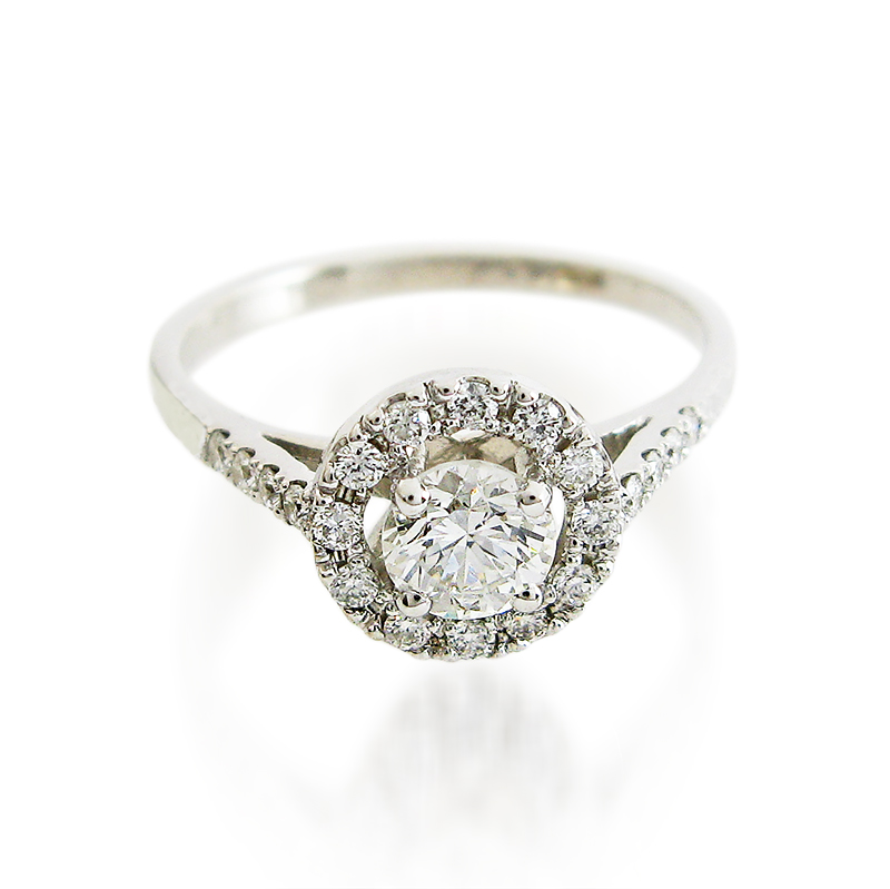 cohen halo engagement ring handmade designer